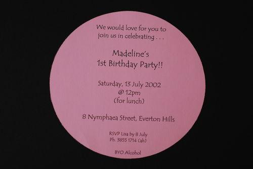 Inviting Invitations By Lisa Madelines 1st Birthday Invitation